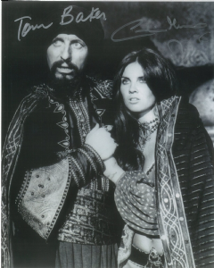 Tom Baker, Caroline Munro -  Multi signed original autograph not a copy 10280